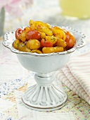 Grape Tomato Salad in a Serving Dish