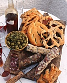 Corsican appetisers and bread