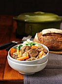 Irish Guinness stew with lamb and carrots
