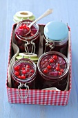 Redcurrant jam with cherries and pears
