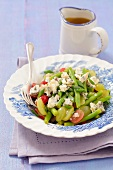 Green bean salad with grapes and blue cheese