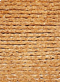A stack of crisp breads (macro-zoom)