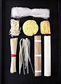 Various Asian noodles