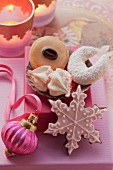 Assorted Christmas biscuits to give as gifts