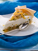 A slice of baklava tart