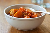 Bowl of Indian Stew Made with Root Vegetables