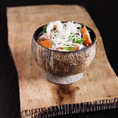 Glass Noodles with Shrimp, Carrots and Snow Peas