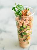 Salmon Ceviche in a Glass