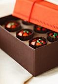 Box of Handmade Pumpkin Chocolates