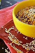 Israelisches Couscous in gelber Schale (ungekocht)