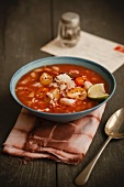 Bowl of Tomato Soup with Crab