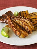 Grilled Lobster Tail with Lime Wedge