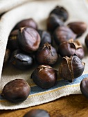 Many Roasted Chestnuts, One Split Open