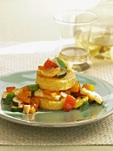 Polenta Rounds with Vegetable Ratatouille