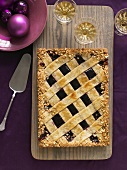 Blackberry Tart with a Lattice Top; From Above
