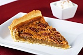 A piece of pecan pie
