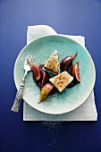 Poppy seed parfait with figs