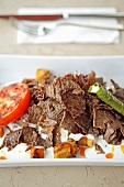Iskend kebab (chopped lamb, Turkey)