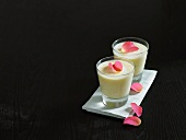 Lassi with rose petals