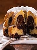 Vanilla and chocolate bundt cake