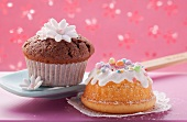 Chocolate muffin and mini bundt cake
