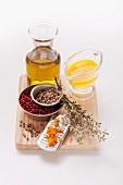 Zutaten für Orangen-Thymian-Marinade