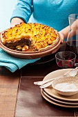 Argentine minced meat bake topped with mashed potatoes