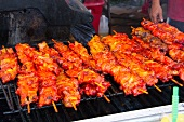 Pork Skewers on a Large Grill