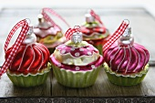 Cupcake Christmas tree baubles
