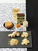 Ingwer (frisch, kandiert, gemahlen, Plätzchen, Teebeutel, eingelegt, Saft)