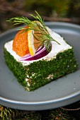 Cream cheese and salmon terrine with lumpfish caviar