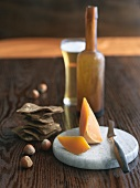 Hard French Mimolette Cheese with Beer