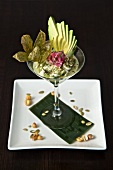 Fish and Avocado Ceviche in a Stem Glass