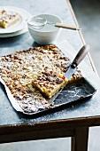Mandel-Zitronenbutter-Kuchen vom Blech