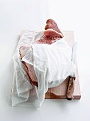A ham being stored for Christmas dinner