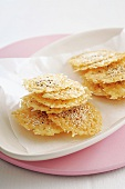 Parmesan crackers with sesame seeds