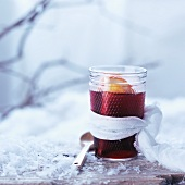 Hot blackcurrant juice with oranges