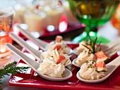 Ziegenkäsecreme mit Feigen (weihnachtlich)