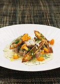Veal ragout with chanterelles and dill sauce