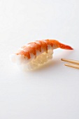 Nigiri sushi with prawn