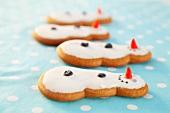 Four gingerbread snowmen