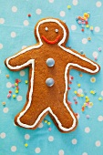 A gingerbread man