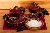 Elderberry tea with rock sugar