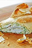 Trout strudel with ricotta