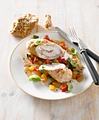 Turkey roulade with vegetables