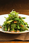Bean and asparagus salad with almonds
