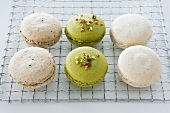 Sesame, pistachio and Earl Grey macaroons