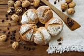 Walnut bread with raisins