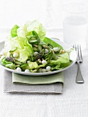Green Salad with Asparagus and Pine Nuts