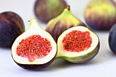 Fresh figs, one halved